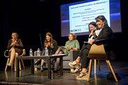 Table ronde : Femmes et cinéma Danielle Jaeggi, Hélène Fleckinger, Véronique Le Bris, Béatrice Pastre &