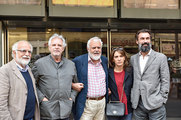 Stefano Rulli, Sandro Petraglia, Marco Tullio Giordana, Maya Sansa & Fabrizio Gifuni