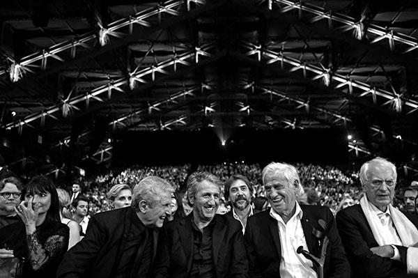 Claude Lelouch, Richard Anconina, Jean-Paul Belmondo & Bertrand Tavernier