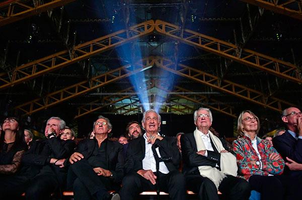 Claude Lelouch, Richard Anconina, Jean-Paul Belmondo, Bertrand Tavernier & Françoise Nyssen