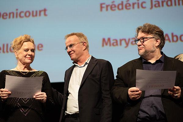 Liv Ullmann, Christophe Lamber & Guillermo Del Toro