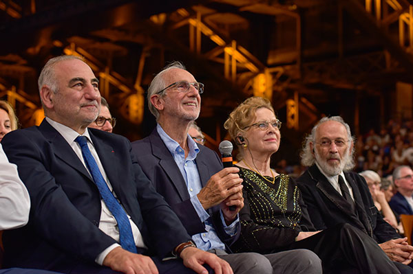 Georges Képénékian, Renzo Piano, Liv Ullmann & Jerry Schatzberg