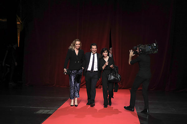 Laurent Gerra & Evelyne Bouix